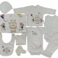 ست 10 تکه لباس نوزادی طرح خرس و بادبادک ببتوف «bebitof»