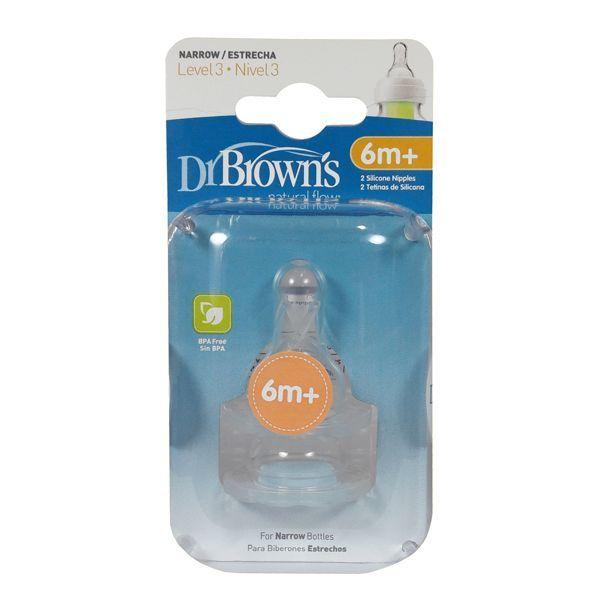 سرشیشه دکتر بروان +6 ماهگی مناسب شیشه معمولی«Dr Browns»