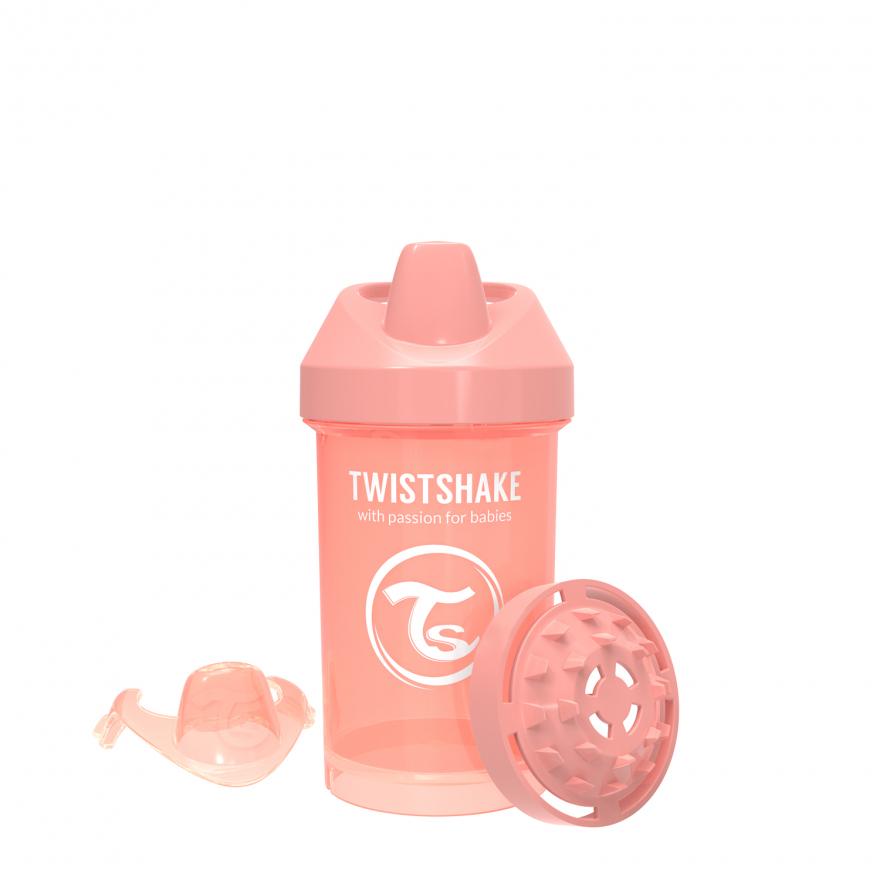 لیوان آبمیوه خوری 300 میل پاستل هلویی تویست شیک Twistshake