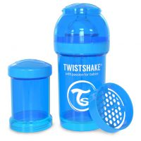 شیشه شیر طلقی 180 میلی لیتر تویست شیک آبی«Twistshake»