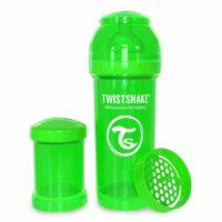 شیشه شیر طلقی 260 میلی لیتر تویست شیک سبز«Twistshake»