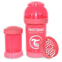 شیشه شیر طلقی 180 میلی لیتر تویست شیک هلویی«Twistshake»