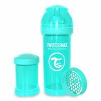 شیشه شیر طلقی 260 میلی لیتر تویست شیک فیروزه ای«Twistshake»
