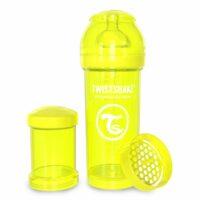 شیشه شیر طلقی 260 میلی لیتر تویست شیک زرد«Twistshake»