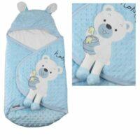 قنداق نوزاد طرح خرس آبی ب ب سیکس «bebecix»
