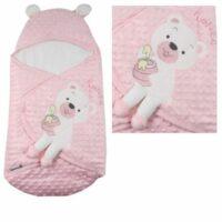 قنداق نوزاد طرح خرس صورتی ب ب سیکس «bebecix»
