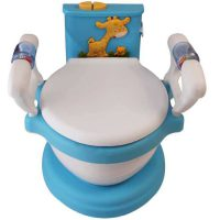 توالت فرنگی آموزشی موزیکال کودک سامیا تویز آبی
