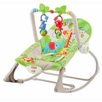 راکر و نی نی لای لای فیشر پرایس fisher price سبز