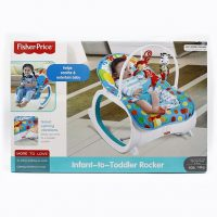 راکر و نی نی لای لای فیشر پرایس fisher price طرح فیل آبی