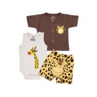 سه تکه نوزادی طرح زرافه baby clothes