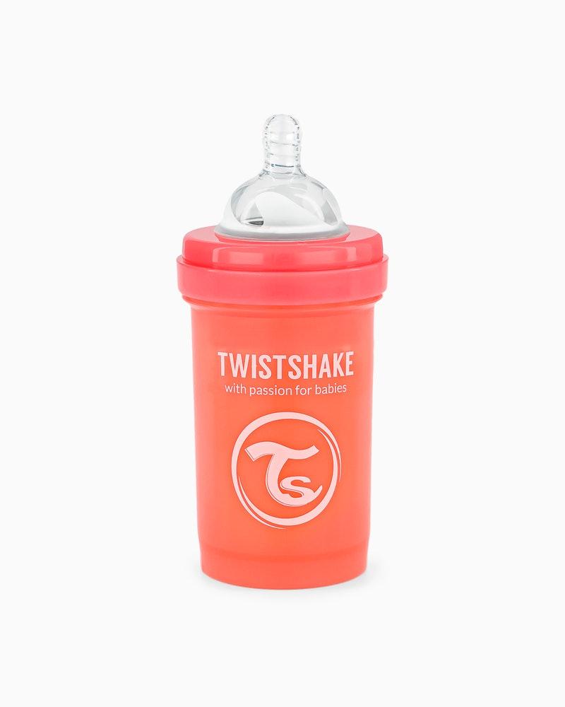 شیشه شیر 180 میل پاستل هلویی تویست شیک Twistshake